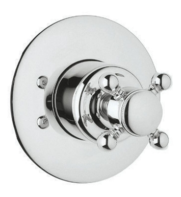 Rohl A2700XC-PN Viaggio 4-Port, 3-Way Diverter Trim Only With Finish: Polished Nickel And Handles: Crystal Cross Handles