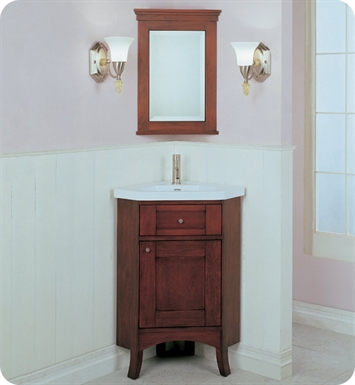 "Fairmont Designs 125-CV26 Shaker 26"" Corner Modern Bathroom Vanity and Sink Set in Dark Cherry"