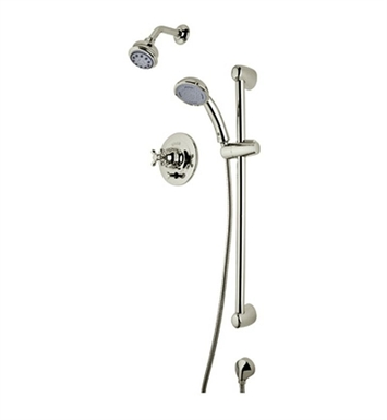 Rohl RBKIT25LM-STN Verona Pressure Balance Shower Package With Metal Lever Handle in Satin Nickel
