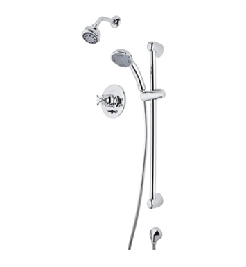 Rohl RBKIT25LM-PN Verona Pressure Balance Shower Package With Finish: Polished Nickel And Handles: Verona Metal Lever Handles