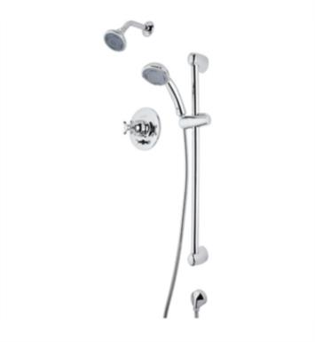 Rohl RBKIT35XM-PN Verona Pressure Balance Shower Package with Multi Function Showerhead With Finish: Polished Nickel And Handles: Cross Handles