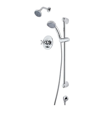 Rohl RBKIT35LM-TCB Verona Pressure Balance Shower Package With Finish: Tuscan Brass <strong>(SPECIAL ORDER, NON-RETURNABLE)</strong> And Handles: Verona Metal Lever Handles
