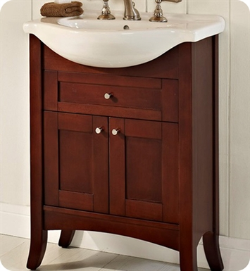 "Fairmont Designs 125-EU26 Shaker 26"" Eurotop Modern Bathroom Vanity in Dark Cherry"