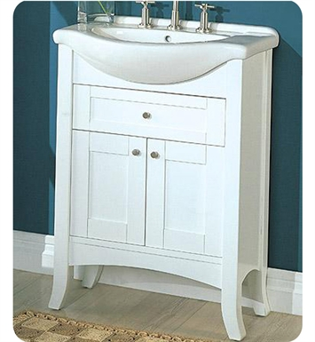 "Fairmont Designs 185-EU26 Shaker 26"" Eurotop Modern Bathroom Vanity in Polar White"
