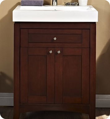 "Fairmont Designs Shaker 26x18"" Modern Bathroom Vanity and Sink Set in Dark Cherry"
