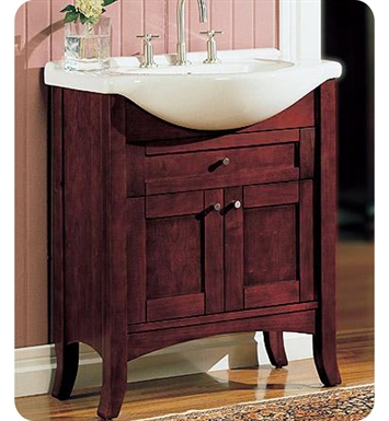 "Fairmont Designs 125-EU30 Shaker 30"" Eurotop Modern Bathroom Vanity in Dark Cherry"