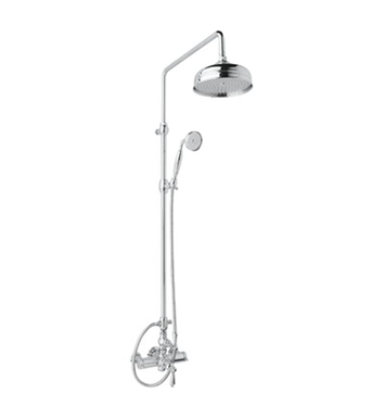 Rohl AKIT49171EXC-IB Viaggio Country Bath Exposed Thermostatic Shower Package With Finish: Inca Brass <strong>(SPECIAL ORDER, NON-RETURNABLE)</strong> And Handles: Crystal Cross Handles