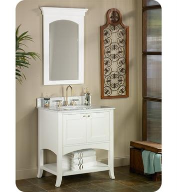 "Fairmont Designs 185-VH30 Shaker 30"" Open Shelf Modern Bathroom Vanity in Polar White"