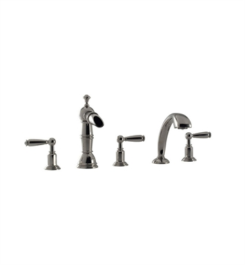 Santec 6155EY28-TM Heritage I Roman Tub Filler with Hand Held Shower and EY Style Handles With Finish: Antique Brass<strong>(USUALLY SHIPS IN 2-4 WEEKS)</strong> And Configuration: Trim Only