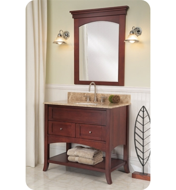 "Fairmont Designs 125-VH36 Shaker 37"" Open Shelf Modern Bathroom Vanity in Dark Cherry"
