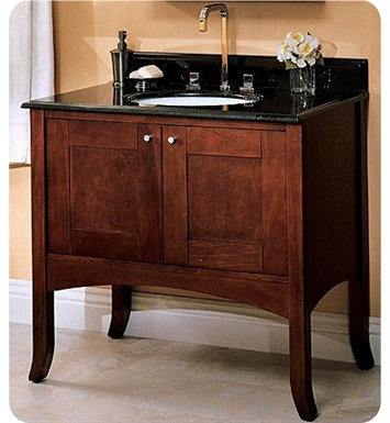 "Fairmont Designs 125-36 Shaker 37"" Modern Bathroom Vanity in Dark Cherry"