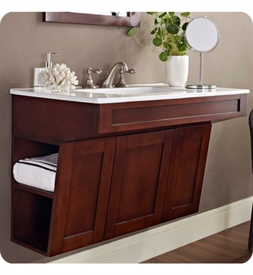 "Fairmont Designs 125-ADW3621 Shaker 36"" Wall Mount Modern Bathroom Vanity in Dark Cherry"