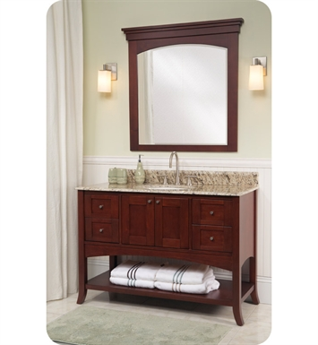 "Fairmont Designs Shaker 49"" Open Shelf Modern Bathroom Vanity in Dark Cherry"