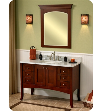 "Fairmont Designs 125-48 Shaker 49"" Modern Bathroom Vanity in Dark Cherry"