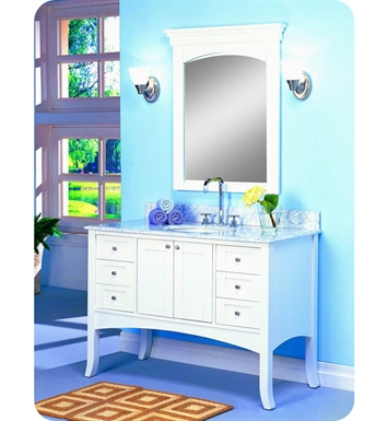 "Fairmont Designs 185-48 Shaker 49"" Modern Bathroom Vanity in Polar White"