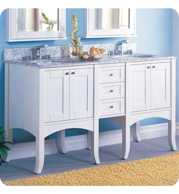 "Fairmont Designs 185-24_DB12_24 Shaker 61"" Modular Modern Bathroom Vanity in Polar White"