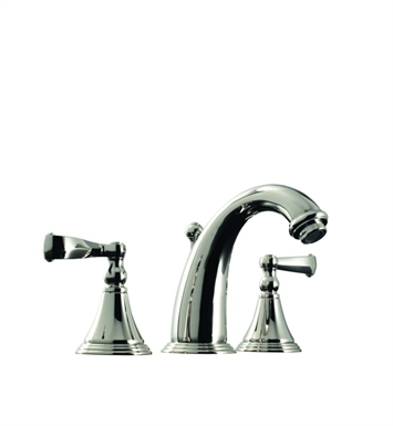 Santec 2220CN28 Kriss I Widespread Lavatory Set with CN Style Handles With Finish: Antique Brass <strong>(USUALLY SHIPS IN 2-4 WEEKS)</strong>