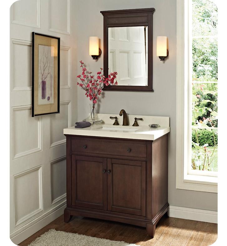 Fairmont Designs 1503 V36 Smithfield 36 Modern Bathroom Vanity In Mink