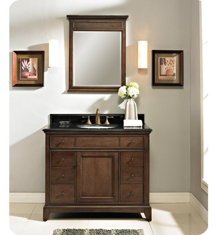 Fairmont Designs 1503 V42 Smithfield 42 Modern Bathroom Vanity In Mink