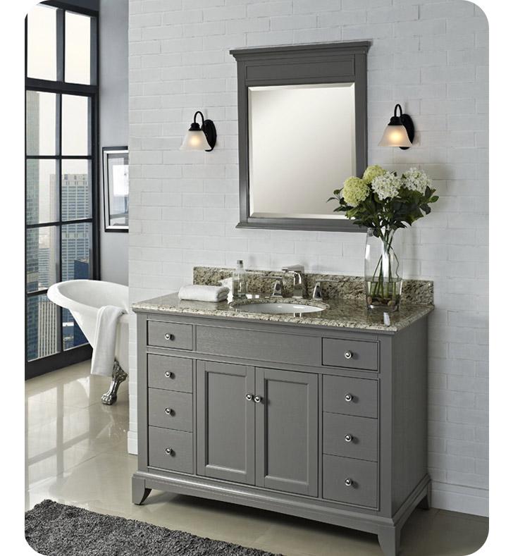 1504 V48 Fairmont Designs Smithfield 48 Modern Bathroom Vanity In Medium Gray