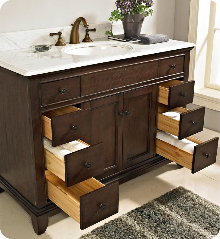 Fairmont Designs 1503 V48 Smithfield 48 Modern Bathroom Vanity In Mink