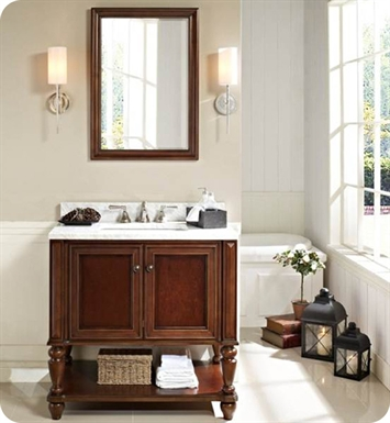 "Fairmont Designs 149-VH36 Stratford 36"" Traditional Bathroom Vanity  Open Shelf"