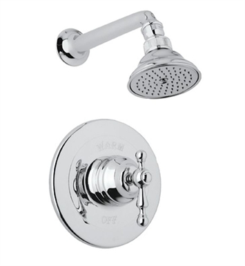 Rohl ACKIT30EOP-TCB Cisal Arcana Shower Package With Finish: Tuscan Brass <strong>(SPECIAL ORDER, NON-RETURNABLE)</strong> And Handles: Arcana Ornate Porcelain Lever Handles