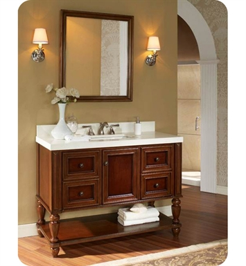 "Fairmont Designs 149-VH48 Stratford 48"" Traditional Bathroom Vanity Open Shelf"