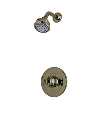 Rohl ACKIT20OP-TCB Cisal Arcana Shower Package With Ornate Porcelain Handle in Tuscan Brass