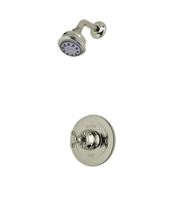 Rohl ACKIT20OP-STN Cisal Arcana Shower Package With Ornate Porcelain Handle in Satin Nickel