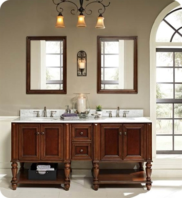 "Fairmont Designs 149-VH30_DB12-H_VH30 Stratford 72"" Modular Traditional Bathroom Vanity"
