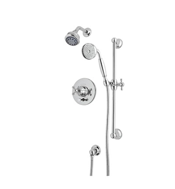 Rohl ACKIT18EOP-TCB Cisal Arcana Shower Package With Finish: Tuscan Brass <strong>(SPECIAL ORDER, NON-RETURNABLE)</strong> And Handles: Arcana Ornate Porcelain Lever Handles