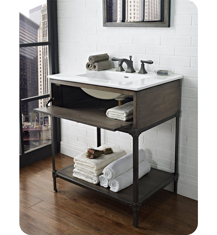 Fairmont Designs 1401 Vh30 Toledo 30 Open Shelf Modern Bathroom Vanity