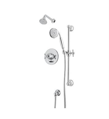 Rohl ACKIT28EX-APC Cisal Arcana Shower Package With Finish: Polished Chrome And Handles: Arcana Cross Metal Lever Handles
