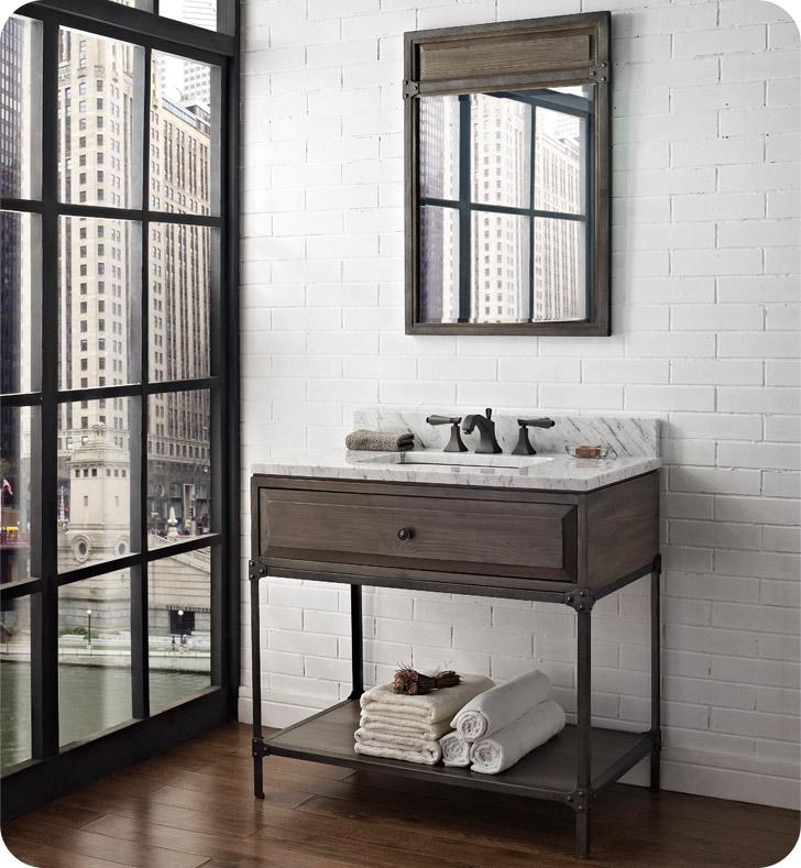"""Fairmont Designs 1401-VH36 Toledo 36"""" Open Shelf Modern"""