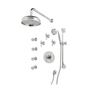 Rohl ACKIT36EOP-STN Cisal Arcana Shower Package With Finish: Satin Nickel And Handles: Arcana Ornate Porcelain Lever Handles