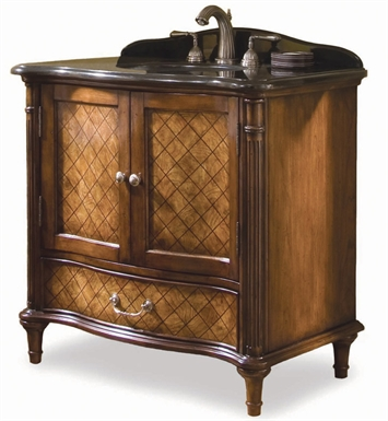 "Cole+Co 13.22.275636.06 Orleans 36"" Antique Bathroom Vanity Set with Sink and Faucet from Bathroom in a Box Collection"