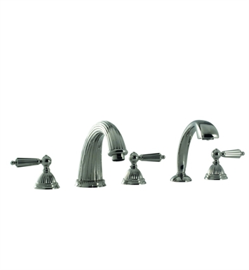Santec 1155LL14-TM Monarch Roman Tub Filler with Hand Held Shower and LL Style Handles With Finish: Gunmetal Gray <strong>(USUALLY SHIPS IN 2-4 WEEKS)</strong> And Configuration: Trim Only