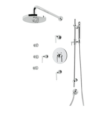 Rohl LOKIT26LM-STN Lombardia Shower Package With Finish: Satin Nickel And Handles: Metal Lever Handles