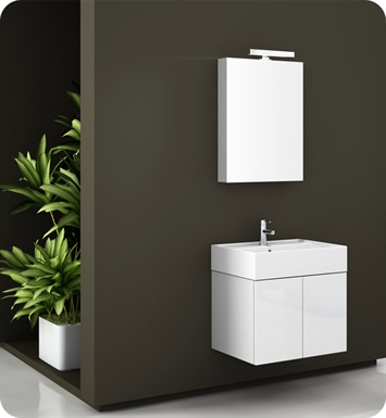 Nameeks SM01-GW Iotti Modern Bathroom Vanity Set from Smile Collection With Finish: Glossy White