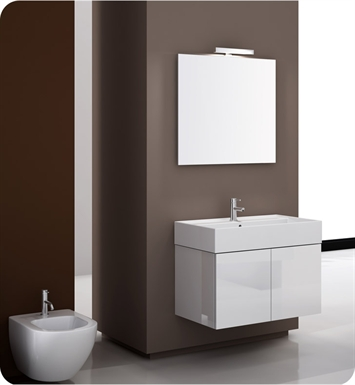 Nameeks SM04-GW Iotti Modern Bathroom Vanity Set from Smile Collection With Finish: Glossy White
