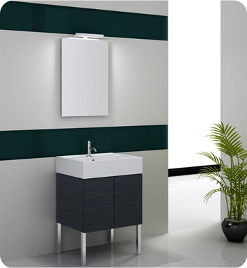Nameeks SM05-W Iotti Modern Bathroom Vanity Set from Smile Collection With Finish: Wenge