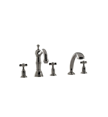 Santec 2955ET88-TM Vantage II Roman Tub Filler with Hand Held Shower and ET Style Handles With Finish: Bright Pewter <strong>(USUALLY SHIPS IN 2-4 WEEKS)</strong> And Configuration: Trim Only