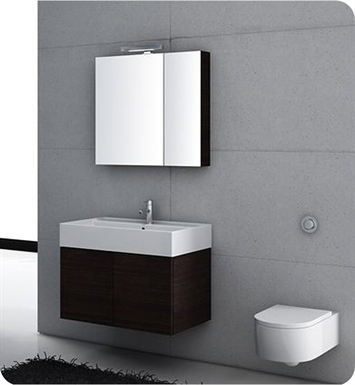 Nameeks SM06-GO Iotti Modern Bathroom Vanity Set from Smile Collection With Finish: Gray Oak