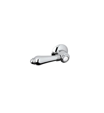Rohl C7950LC-STN Hex Universal Tank With Trip Arm With Finish: Satin Nickel And Handles: Crystal Lever Handles