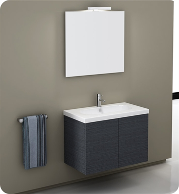 Nameeks TR02-GO Iotti Modern Bathroom Vanity Set from Trendy Collection With Finish: Gray Oak