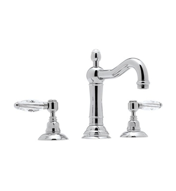 Rohl A1409XC-STN Acqui Column Spout Widespread Lavatory Faucet With Finish: Satin Nickel And Handles: Crystal Cross Handles