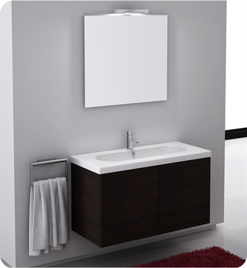 Nameeks TR03-GO Iotti Modern Bathroom Vanity Set from Trendy Collection With Finish: Gray Oak