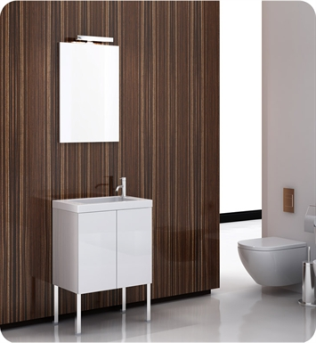 Nameeks HD01-GW Iotti Modern Bathroom Vanity Set from Happy Day Collection With Finish: Glossy White