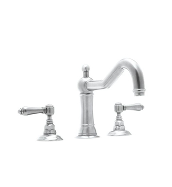 Rohl A1414XC-STN Acqui 3-Hole Deck Mount Column Spout Tub Filler With Finish: Satin Nickel And Handles: Crystal Cross Handles